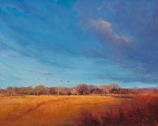 Cranes at Dusk (SOLD)
